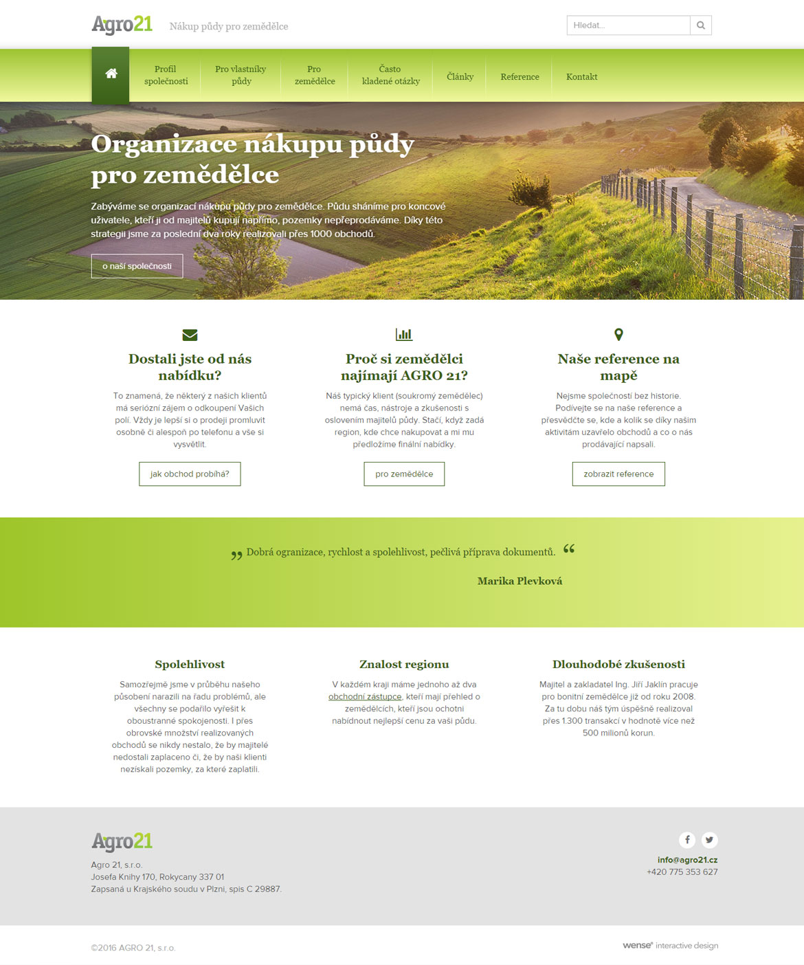 Agro21 homepage