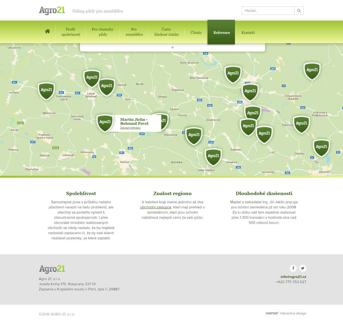 Agro 21 wense interactive design for Design reference sites